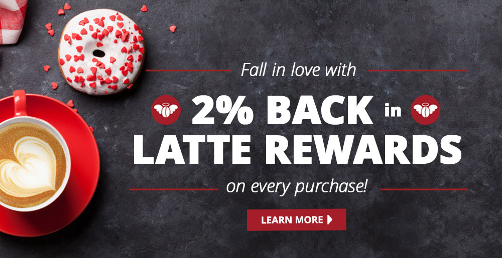 Earn 2% back in Latte Rewards on every purchase