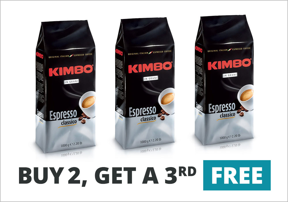Kimbo Classico: Buy Two, Get the Third Free