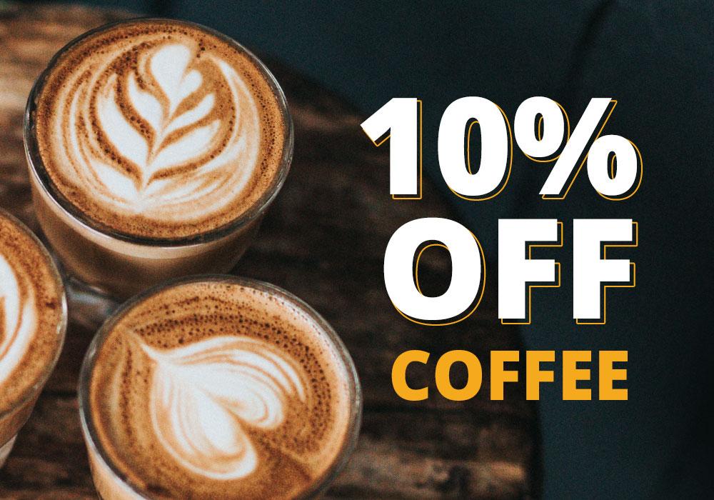 10% off Coffee